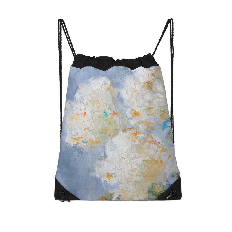 Hydrangea Accessories Drawstring Bag Bag by rachelspaintings's Artist Shop