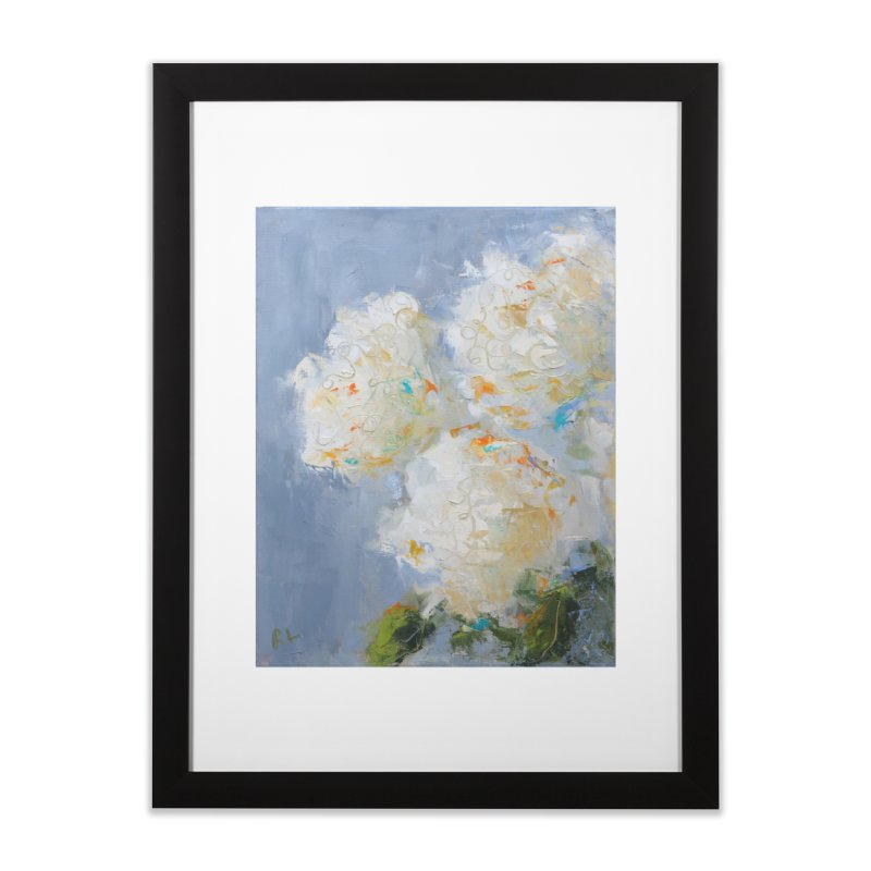 Hydrangea Home Framed Fine Art Print by rachelspaintings's Artist Shop