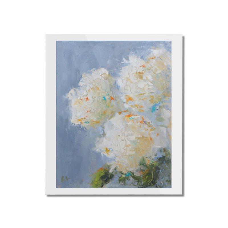 Hydrangea Home Mounted Acrylic Print by rachelspaintings's Artist Shop