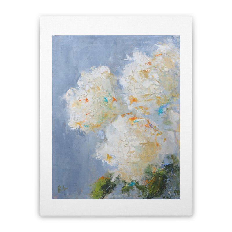 Hydrangea Home Stretched Canvas by rachelspaintings's Artist Shop