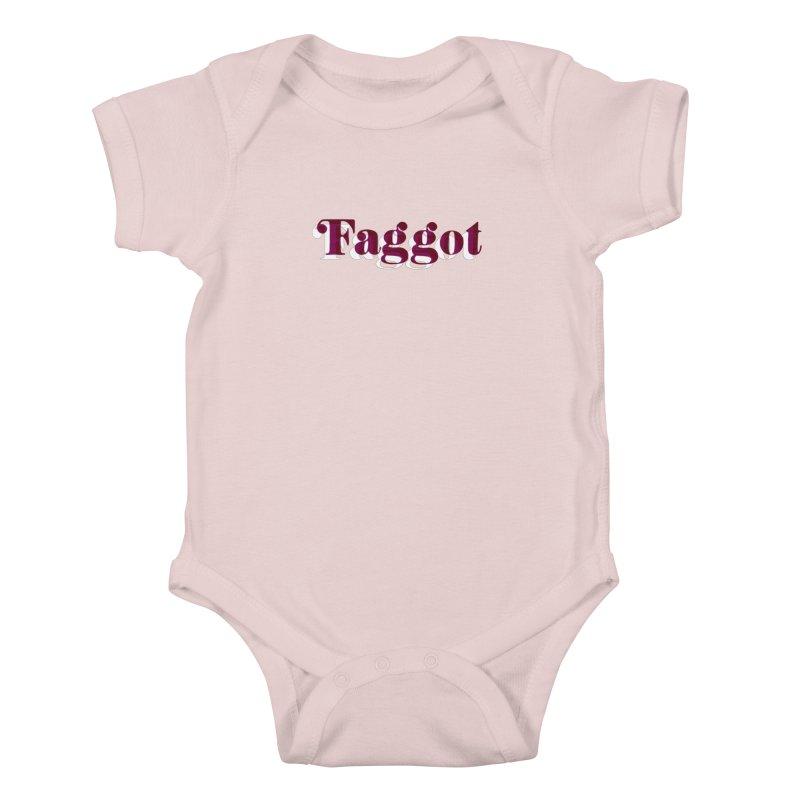 Faggot - Gay Pride Kids Baby Bodysuit by RadBadgesUK