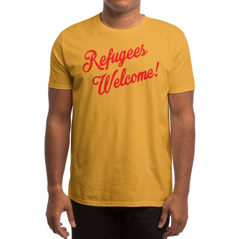 Refugees Welcome Men's T-Shirt by RadBadgesUK