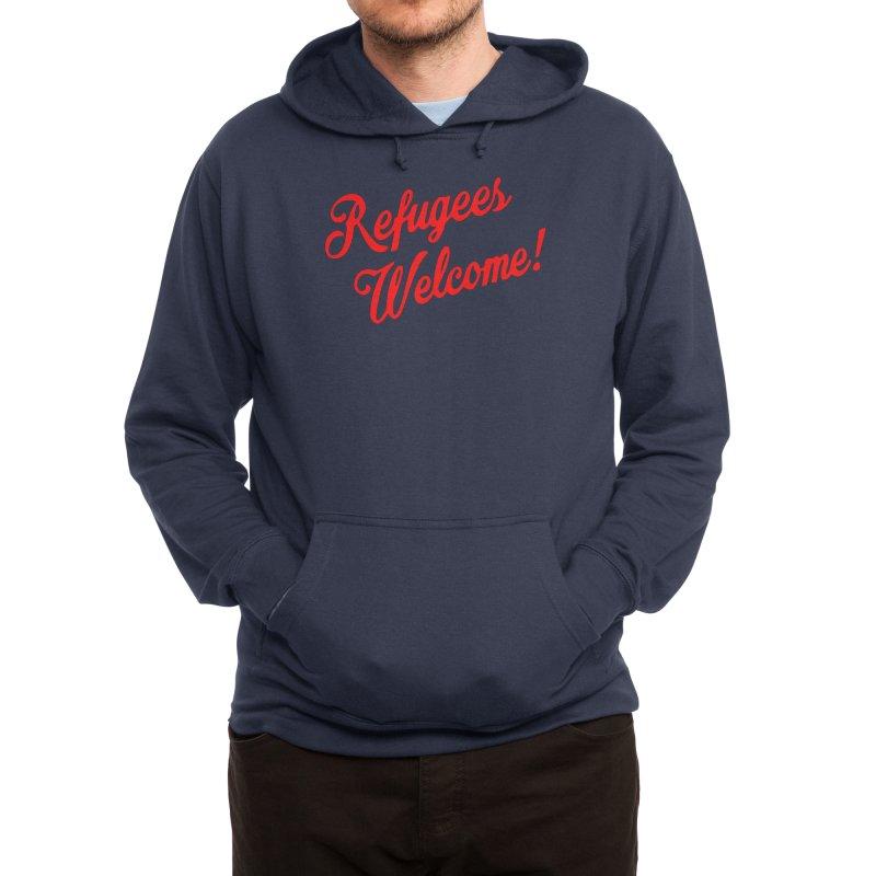 Refugees Welcome Men's Pullover Hoody by RadBadgesUK