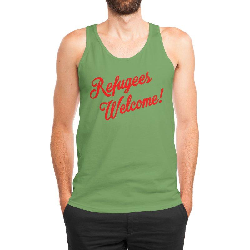Refugees Welcome Men's Tank by RadBadgesUK