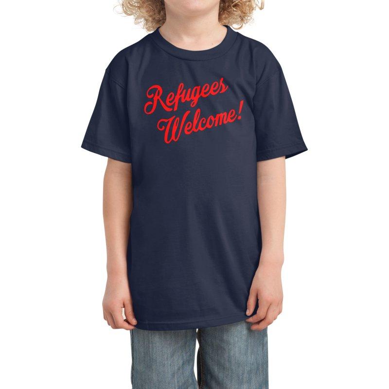 Refugees Welcome Kids T-Shirt by RadBadgesUK