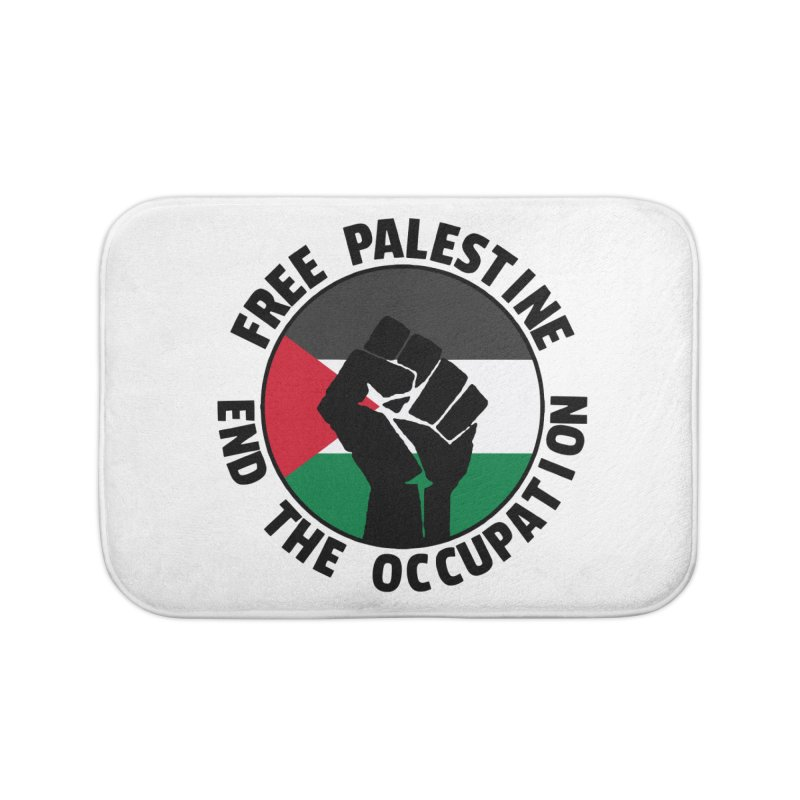 Free Palestine - End The Occupation Home Bath Mat by RadBadgesUK