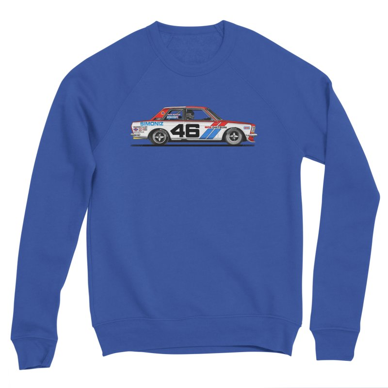 BRE DATSUN 510 - NO.46 . JOHN MORTON - CUSTOM REPLICA - other side Men's Sweatshirt by RAD BRUTALISM