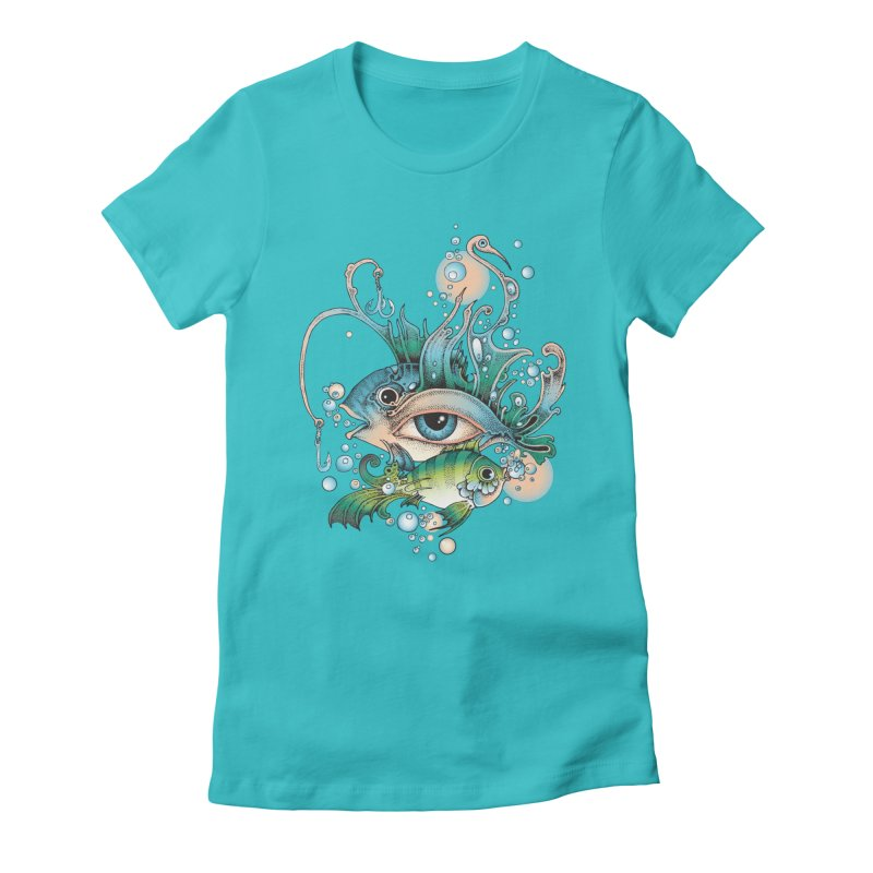 Hook Women's Fitted T-Shirt by radecupo's Artist Shop