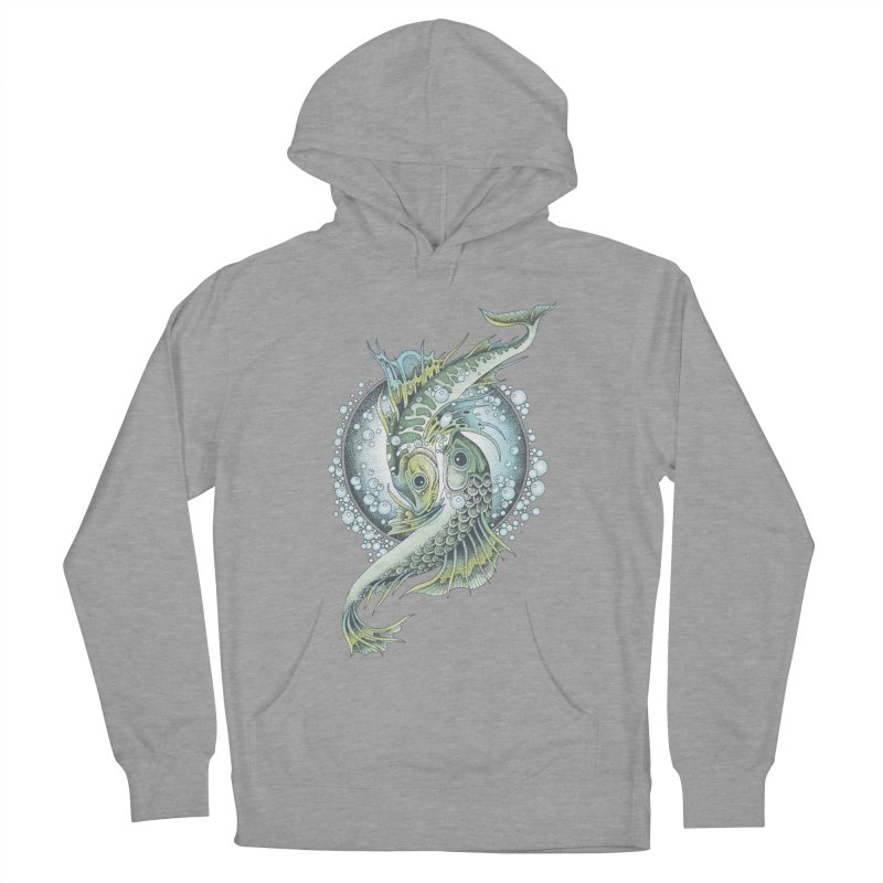 Two Fishes Women's French Terry Pullover Hoody by radecupo's Artist Shop