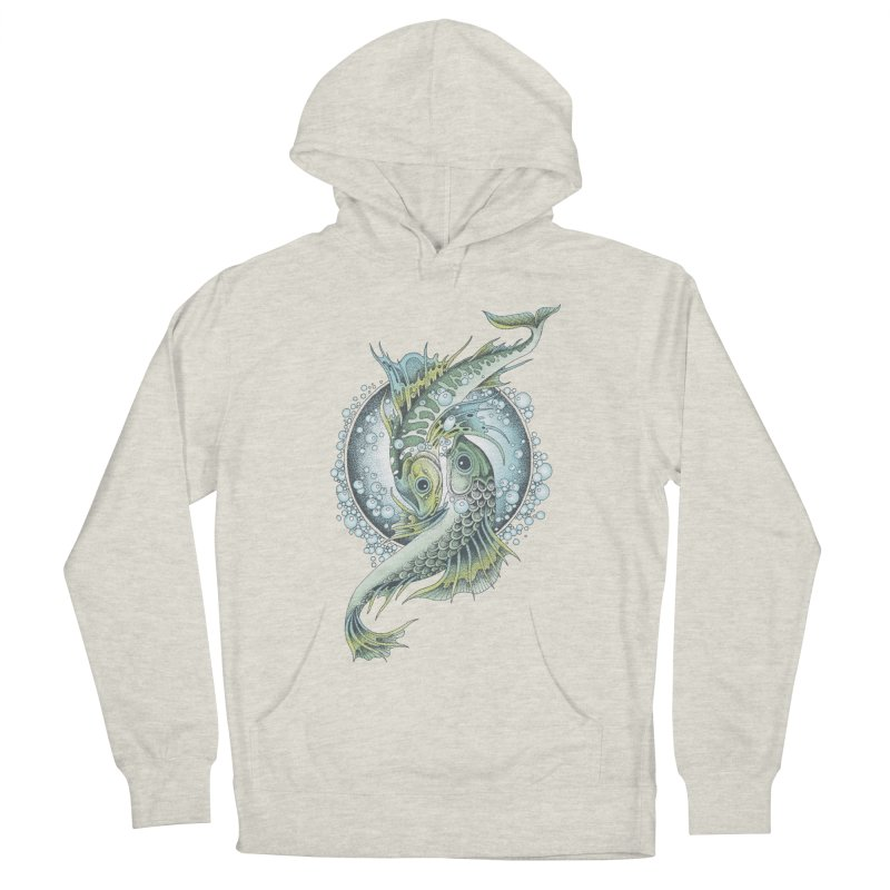 Two Fishes Men's French Terry Pullover Hoody by radecupo's Artist Shop