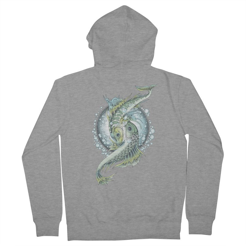 Two Fishes Women's Zip-Up Hoody by radecupo's Artist Shop