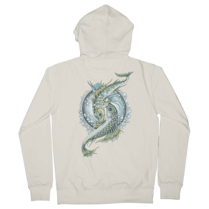 Two Fishes Women's French Terry Zip-Up Hoody by radecupo's Artist Shop