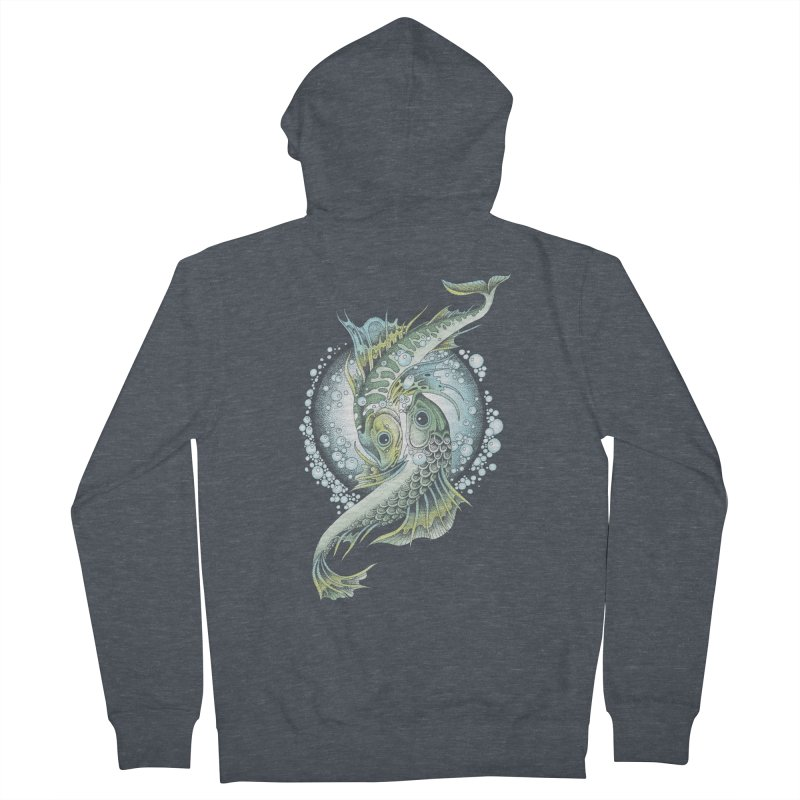 Two Fishes Men's Zip-Up Hoody by radecupo's Artist Shop