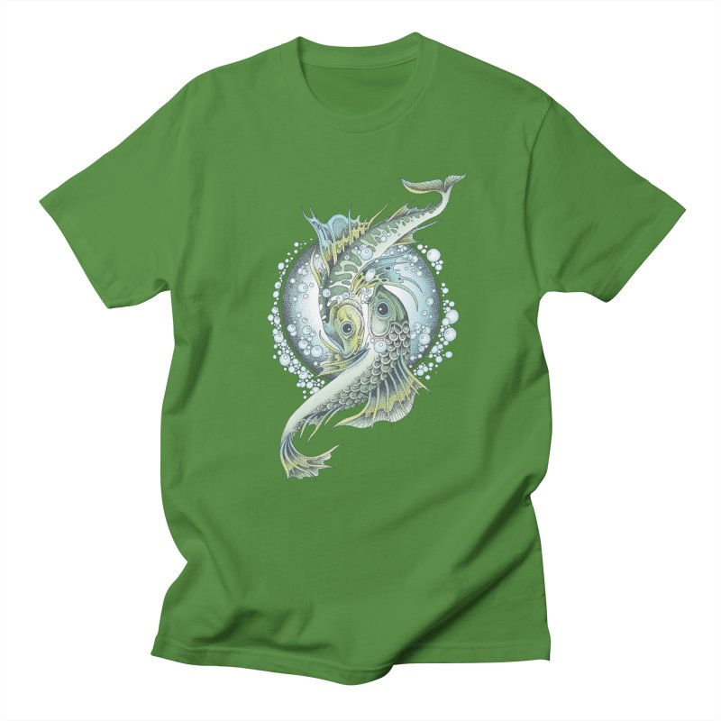 Two Fishes Men's T-shirt by radecupo's Artist Shop