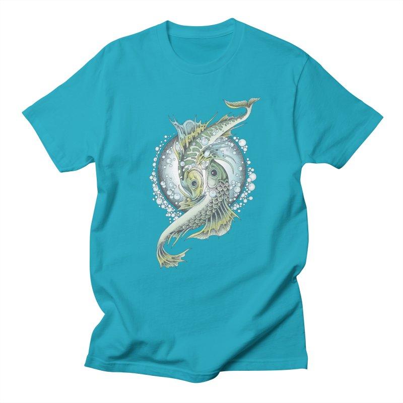 Two Fishes Men's Regular T-Shirt by radecupo's Artist Shop