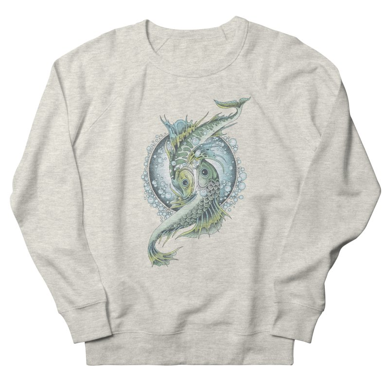 Two Fishes Men's Sweatshirt by radecupo's Artist Shop