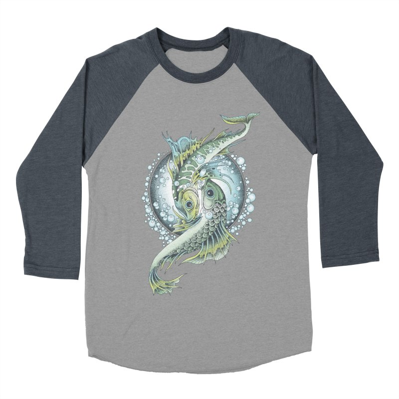 Two Fishes Women's Baseball Triblend T-Shirt by radecupo's Artist Shop