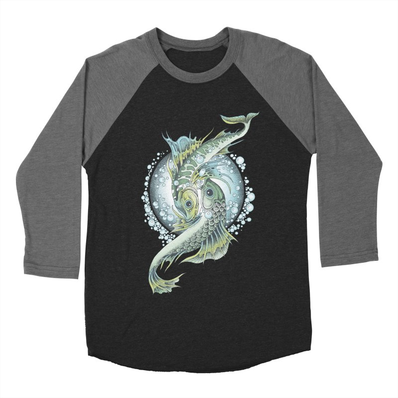 Two Fishes Men's Baseball Triblend T-Shirt by radecupo's Artist Shop