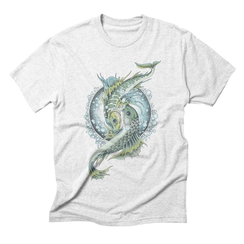 Two Fishes Men's Triblend T-shirt by radecupo's Artist Shop