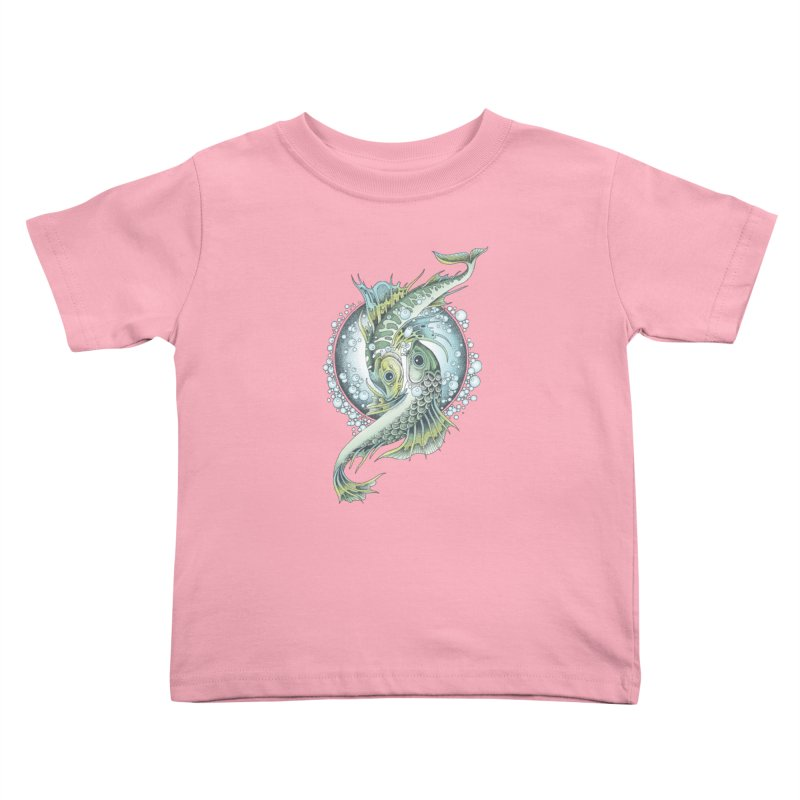 Two Fishes Kids Toddler T-Shirt by radecupo's Artist Shop