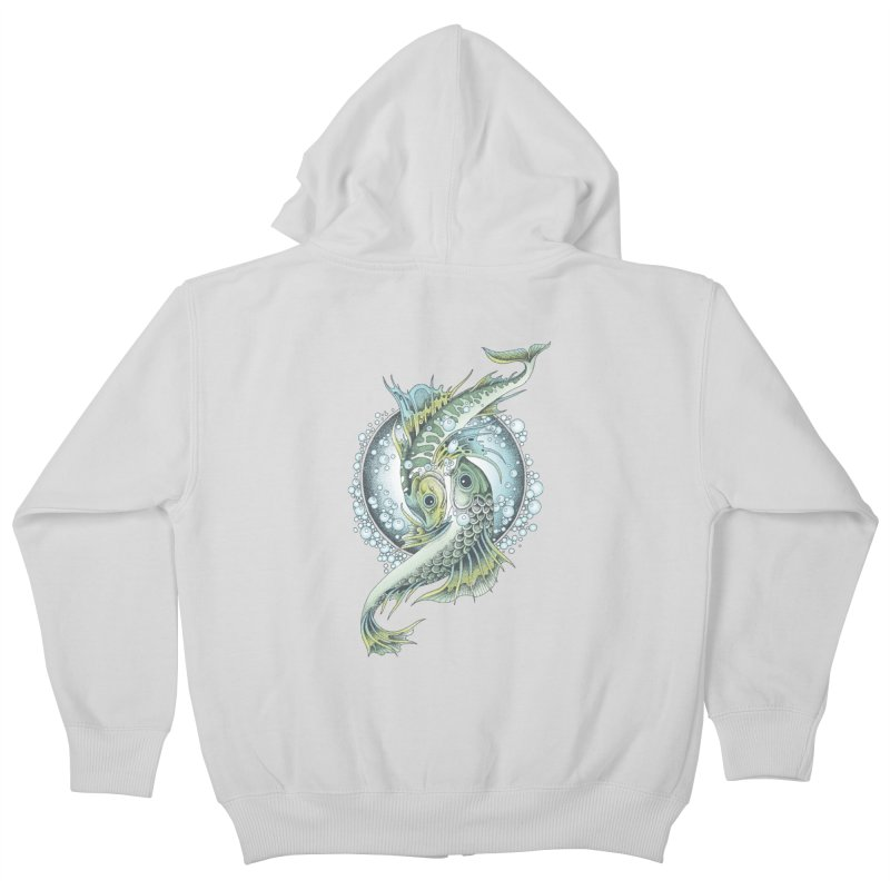 Two Fishes Kids Zip-Up Hoody by radecupo's Artist Shop