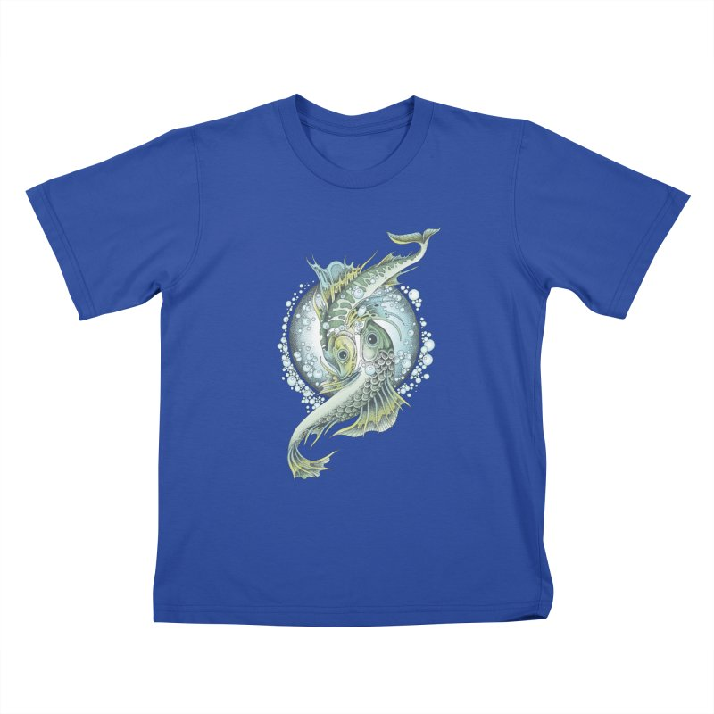 Two Fishes Kids T-Shirt by radecupo's Artist Shop