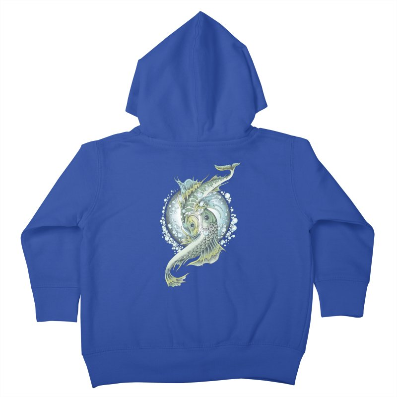 Two Fishes Kids Toddler Zip-Up Hoody by radecupo's Artist Shop