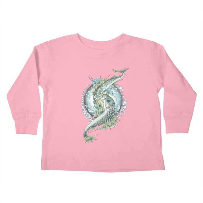 Two Fishes Kids Toddler Longsleeve T-Shirt by radecupo's Artist Shop