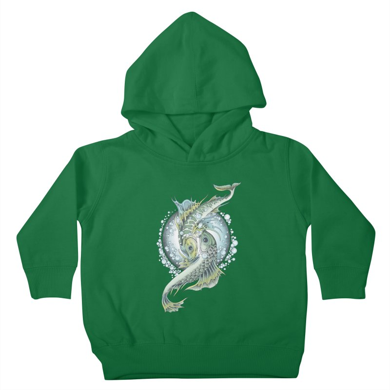 Two Fishes Kids Toddler Pullover Hoody by radecupo's Artist Shop