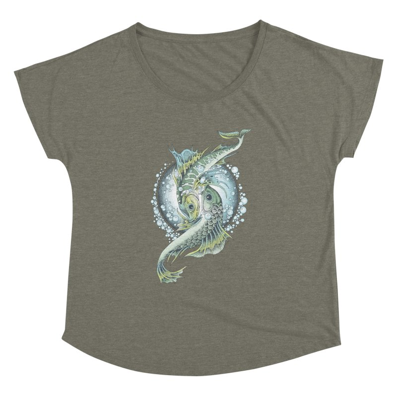Two Fishes Women's Dolman by radecupo's Artist Shop