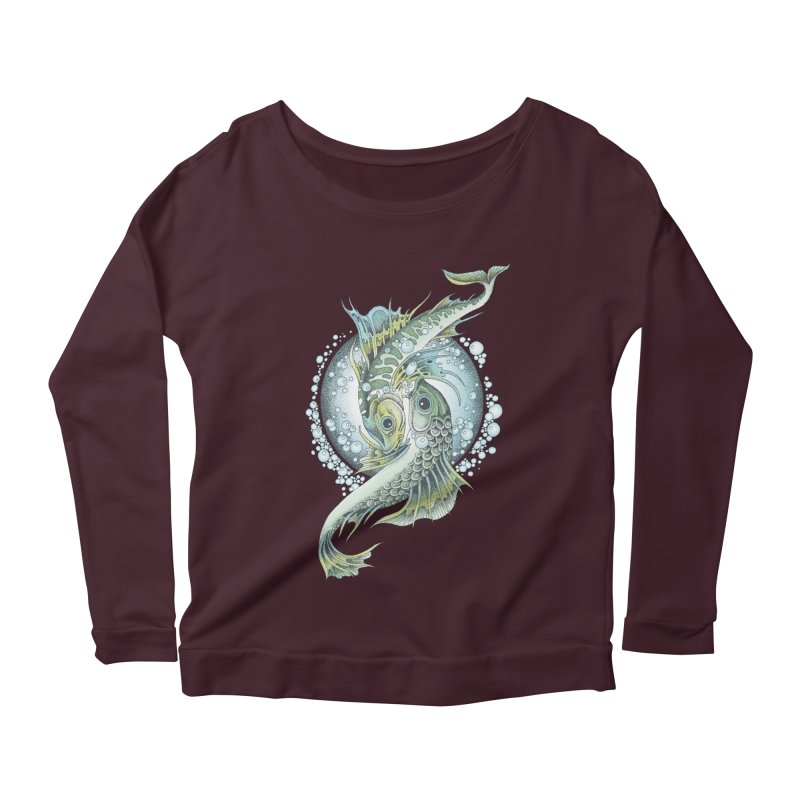 Two Fishes Women's Scoop Neck Longsleeve T-Shirt by radecupo's Artist Shop