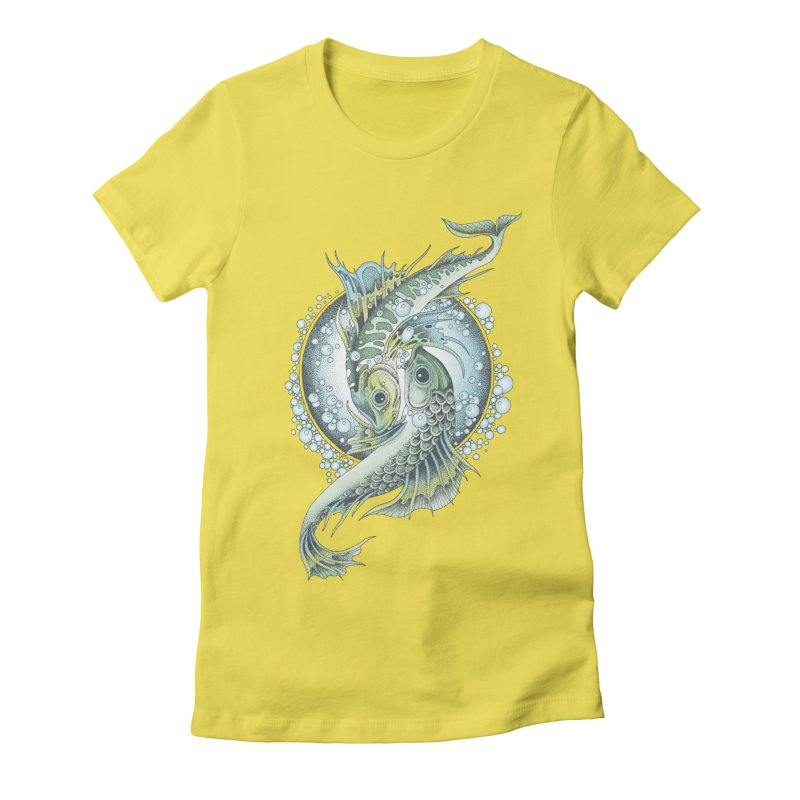 Two Fishes Women's Fitted T-Shirt by radecupo's Artist Shop