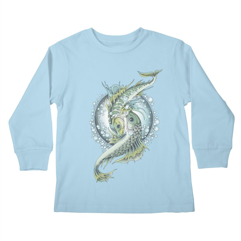 Two Fishes Kids Longsleeve T-Shirt by radecupo's Artist Shop