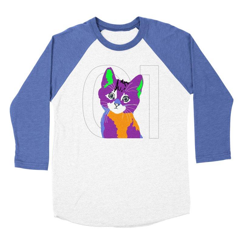 Kitty 01 Men's Baseball Triblend Longsleeve T-Shirt by R-A Designs -  Artist Shop