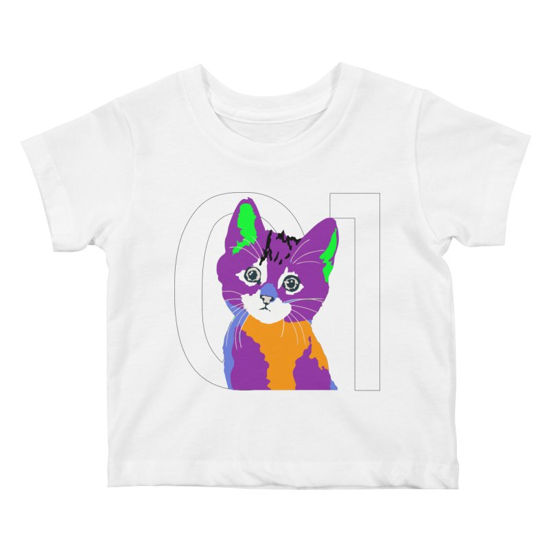Kitty 01 Kids Baby T-Shirt by R-A Designs -  Artist Shop
