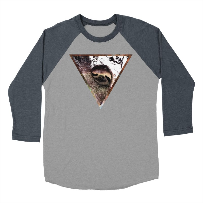 Galactic Sloth Men's Baseball Triblend T-Shirt by radesigns's Artist Shop