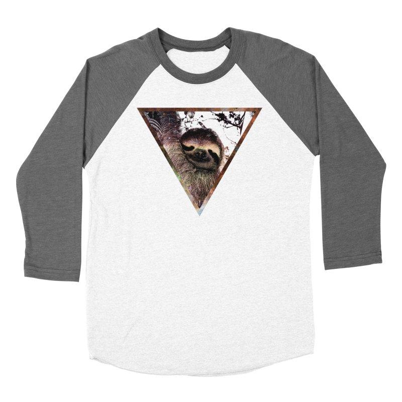 Galactic Sloth Men's Baseball Triblend T-Shirt by radesigns's Artist Shop
