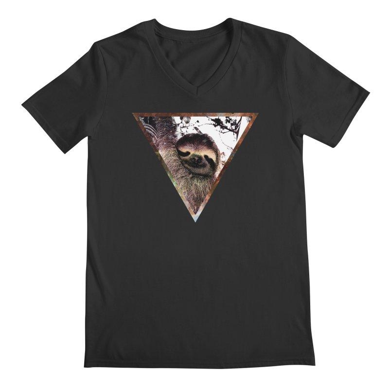 Galactic Sloth Men's V-Neck by radesigns's Artist Shop