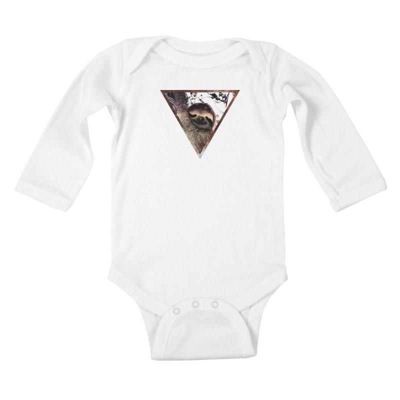 Galactic Sloth Kids Baby Longsleeve Bodysuit by radesigns's Artist Shop