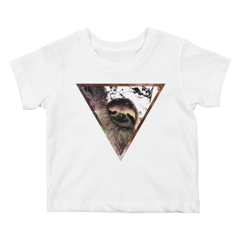 Galactic Sloth Kids Baby T-Shirt by radesigns's Artist Shop
