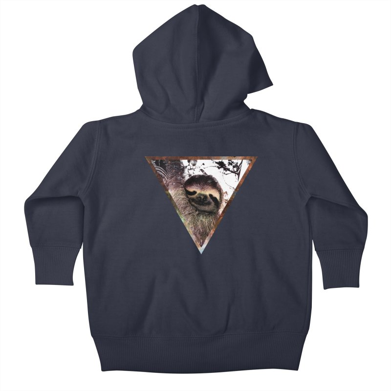 Galactic Sloth Kids Baby Zip-Up Hoody by radesigns's Artist Shop