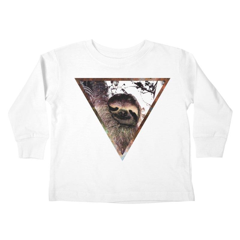 Galactic Sloth Kids Toddler Longsleeve T-Shirt by radesigns's Artist Shop
