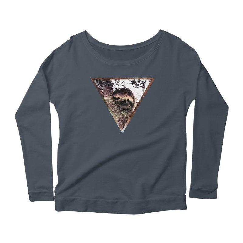Galactic Sloth Women's Longsleeve Scoopneck  by radesigns's Artist Shop