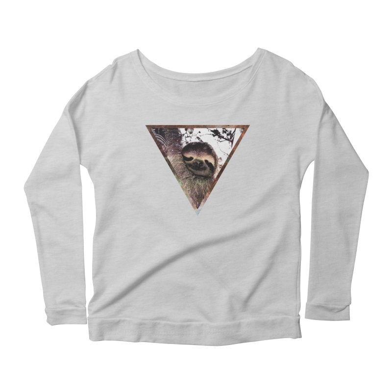 Galactic Sloth Women's Longsleeve Scoopneck  by radesigns's Artist Shop