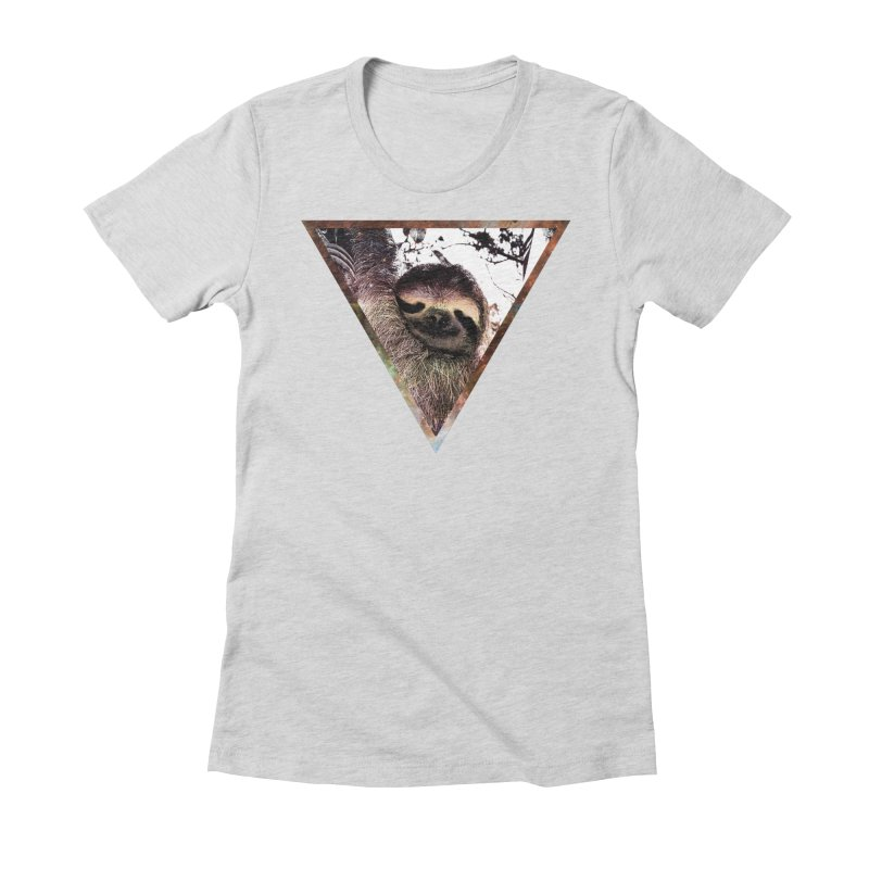 Galactic Sloth Women's Fitted T-Shirt by radesigns's Artist Shop