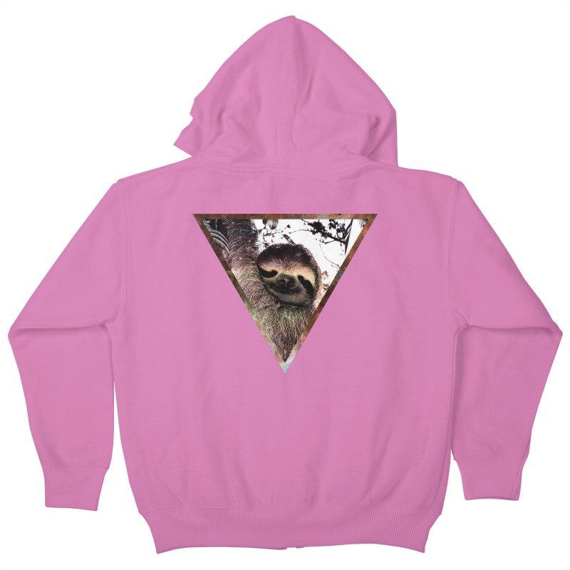Galactic Sloth Kids Zip-Up Hoody by radesigns's Artist Shop