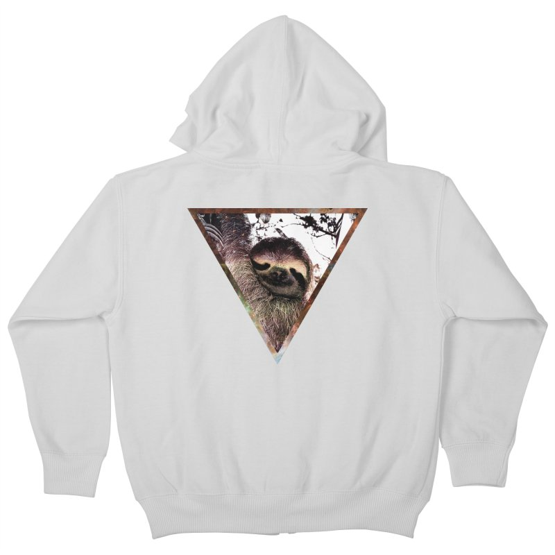 Galactic Sloth Kids Zip-Up Hoody by radesigns's Artist Shop