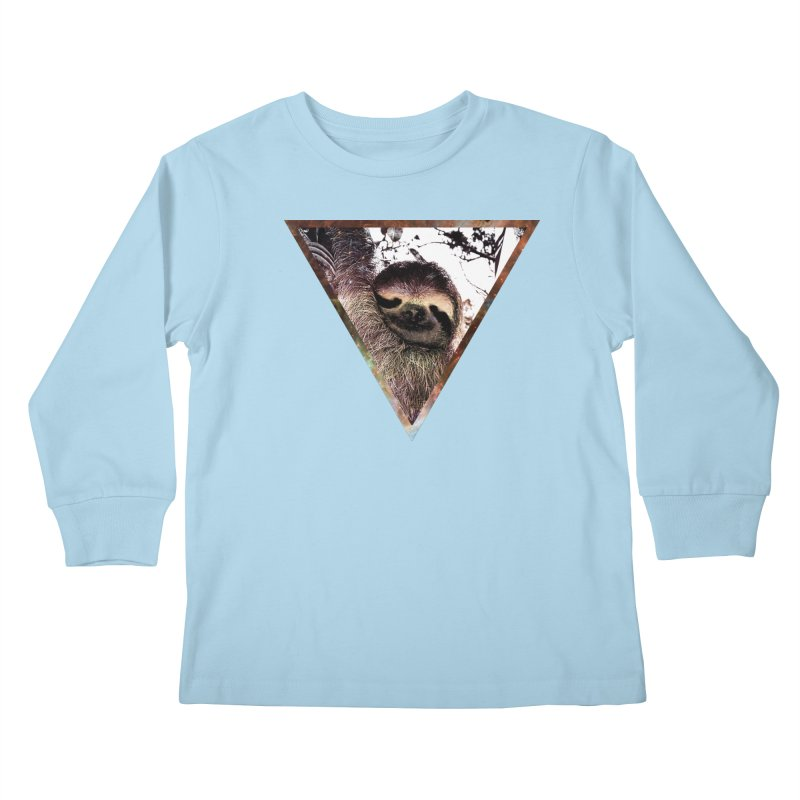 Galactic Sloth Kids Longsleeve T-Shirt by radesigns's Artist Shop