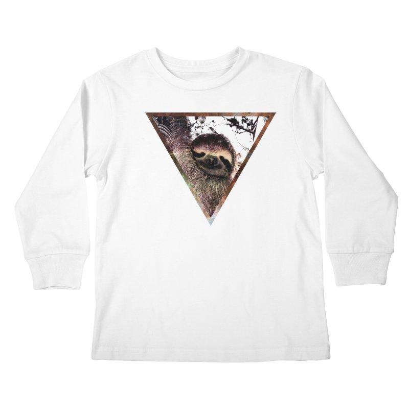 Galactic Sloth Kids Longsleeve T-Shirt by radesigns's Artist Shop