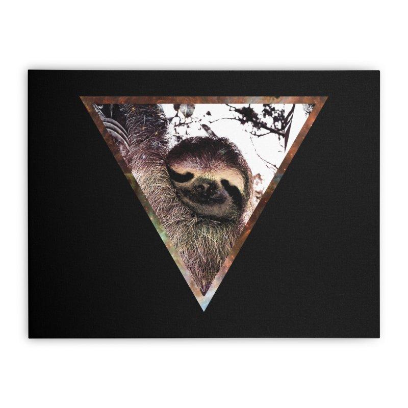 Galactic Sloth Home Stretched Canvas by radesigns's Artist Shop